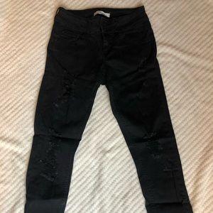 Refuge black jeans with holes